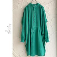 Old Linen Rayon グランパシャツ