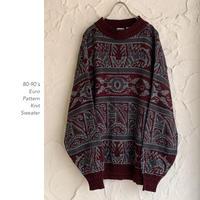 80-90's Pattern Knit セーター