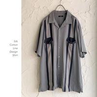 Line Design シルクシャツ