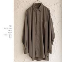 90's Y's for men レーヨンシャツ
