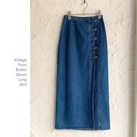 Vintage Denim Longラップスカート