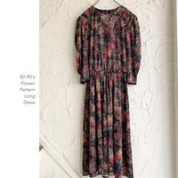 80-90's Flower Printワンピース