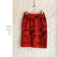Vintage Flower Pattern ニットスカート