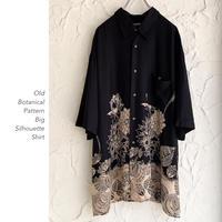 Old Botanical Patternレーヨンシャツ
