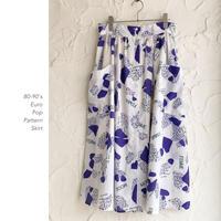 80-90's POP Patternスカート