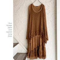 Euro Vintage Layered Lace ワンピース