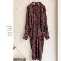 80-90's Paisley Pattern ワンピース