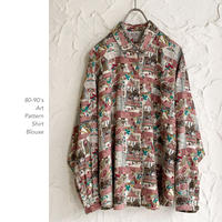 80-90's Art Patternシャツ