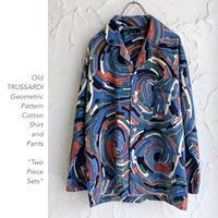 Old TRUSSARDI Geometric Patternシャツ