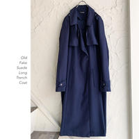 Fake Suede Long Trenchコート