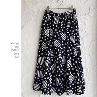 Vintage Dot Patternスカート