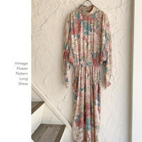Vintage Flower Pattern ワンピース