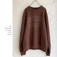 Big Silhouette Collegeスウェット