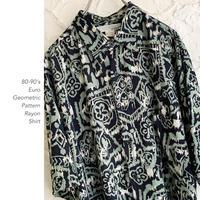 80-90's Euro Geometric Patternシャツ