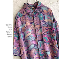 80-90's Euro Marble Patternシャツ