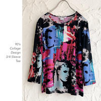 90's Collage Pattern L/S Tee