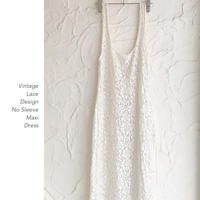 Old Lace Nosleeve レースワンピース