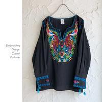 Embroidery Design コットンプルオーバー