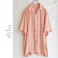 Line Design Linen Rayonシャツ
