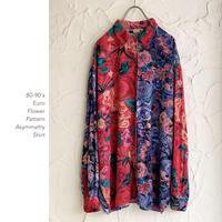 80-90's Euro Flower Patternシャツ