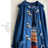 90's Denim&Co. Denimダッフルコート