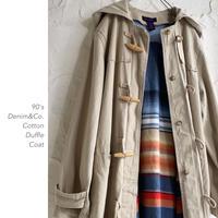 90's Denim&Co. Cottonダッフルコート
