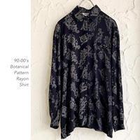90-00's Botanical Patternシャツ