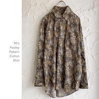 Vintage Paisley Patternシャツ