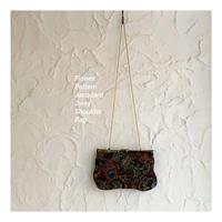 Vintage Jacquard Pattern 2way Bag