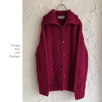 Vintage Aran Knit カーディガン