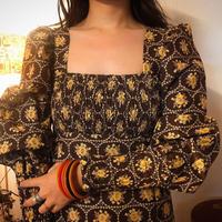 70's British Vintage Dress