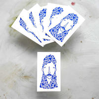 OKI STÅ STICKER -ROYAL_BLUE