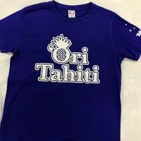 Ori Tahiti  Tシャツブルー