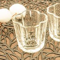 【チョウムチョロム】クローバー型 焼酎グラス