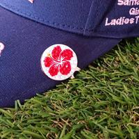 ハワイアンシリーズ ハイビスカス  スワロフスキー ゴルフマーカー