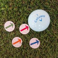矢印デザイン スワロフスキー ゴルフマーカー