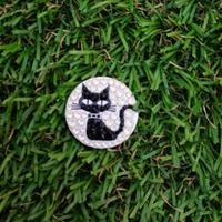 黒猫ちゃん スワロフスキーのゴルフマーカー