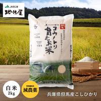特別栽培米 コウノトリ育むお米(減農薬)白米 2kg 送料無料(北海道・沖縄・離島除く)