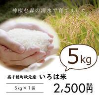 『いろは米』5kg 水源の村・高千穂町秋元の棚田米♪寒暖の差が磨いた旨味 ※白米・玄米選べます