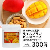 米ぬかのお菓子 ライスブランビスコッティ 40g(宮崎県産マンゴー)