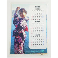 【カレンダー】3ヶ月カレンダー☆2L縦版(2020.4~6)