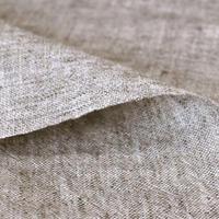 【手染めのやさしい風合い】 fanageコットン54%リネン46% 30番手ムラ糸平織り生地/10cm (4104f)