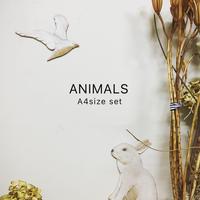 ANIMALS 完成品[3匹set] A4サイズ