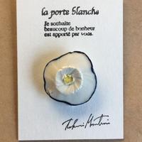 陶ブローチ [花]