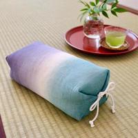 たわら枕 本麻・生平/引き染めブルー