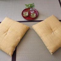 小座布団 50×55cm 本麻・生平/橘(たちばな)【角房なし】