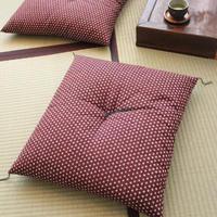 小座布団 50×55cm 木綿・むら染め/あられ紫