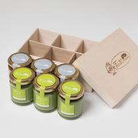 【浜んまちPUDDING】長崎そのぎ抹茶&黒胡麻プリンギフトセット(6個)