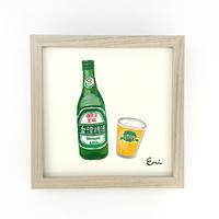 我愛台湾 イラスト原画(台湾ビール)