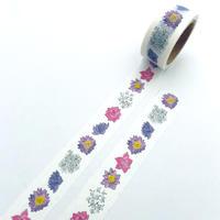 スリランカのお花・マスキングテープ